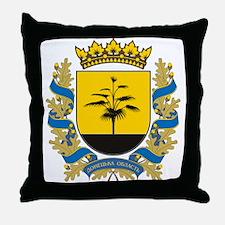 Donetsk Coat of Arms Throw Pillow