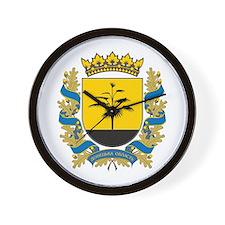 Donetsk Coat of Arms Wall Clock
