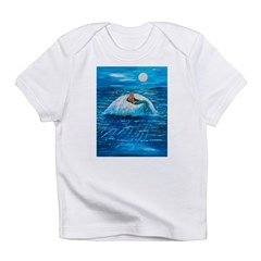 Mermaid floating under a full Infant T-Shirt