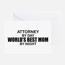 World's Best Mom - Attorney Greeting Cards (Pk of