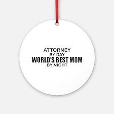 World's Best Mom - Attorney Ornament (Round)