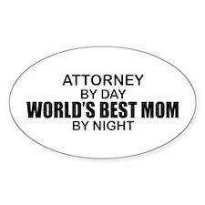 World's Best Mom - Attorney Decal