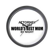 World's Best Mom - Attorney Wall Clock