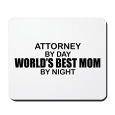 World's Best Mom - Attorney Mousepad