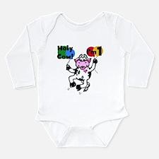 Holy Cow I'm 1 Long Sleeve Infant Bodysuit