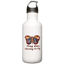 Strong Woman Learning To Fly Water Bottle