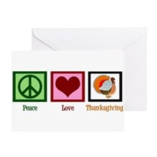 Peace Love Thanksgiving Greeting Card