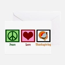 Peace Love Thanksgiving Greeting Cards (Pk of 20)