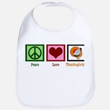 Peace Love Thanksgiving Bib