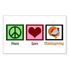 Peace Love Thanksgiving Decal