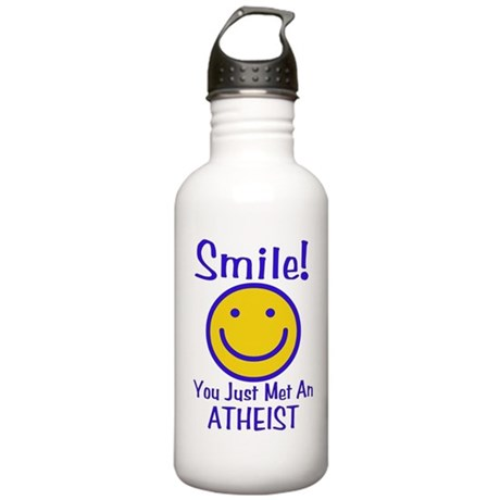 Atheist Smiley Stainless Water Bottle 1.0L