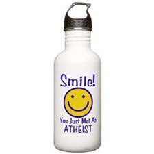 Atheist Smiley Water Bottle