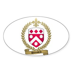 DUROSSEAU Family Crest Oval Decal