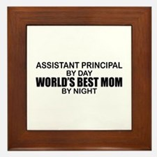 World's Best Mom - Asst Principal Framed Tile