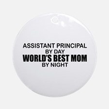 World's Best Mom - Asst Principal Ornament (Round)