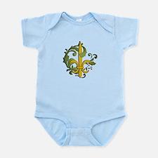 Christmas Fleur de lis Infant Bodysuit