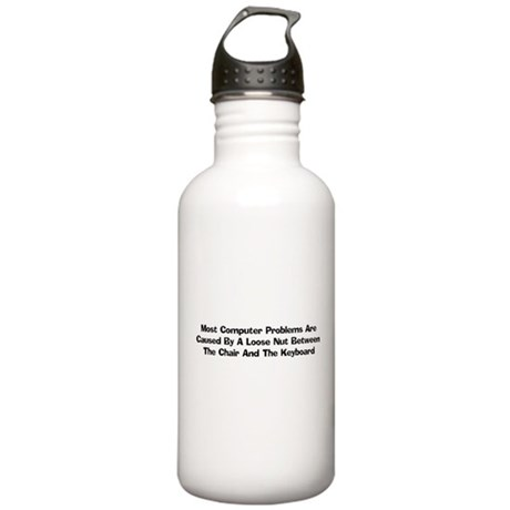 Loose Nut At Keyboard Stainless Water Bottle 1.0L