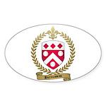 DUROUSSEAU Family Crest Oval Sticker