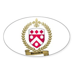DUROUSSEAU Family Crest Oval Decal
