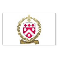 DUROUSSEAU Family Crest Rectangle Decal