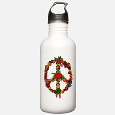 Veggie Peace Sign Water Bottle