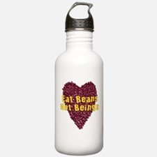 Eat Beans Not Beings Water Bottle