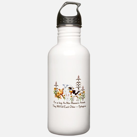 Pythagoras Vegetarian Quote Water Bottle