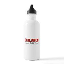 Children Social Disease Water Bottle