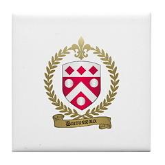 DUROUSSEAUX Family Crest Tile Coaster