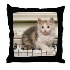 PIANO KITTY Throw Pillow