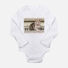 PIANO KITTY Long Sleeve Infant Bodysuit