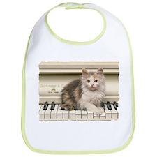 PIANO KITTY Bib