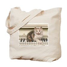 PIANO KITTY Tote Bag