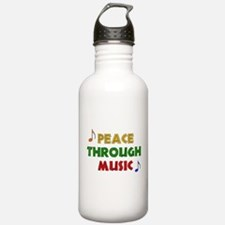 Peace Through Music Water Bottle