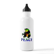 Peace Panda Bear Water Bottle