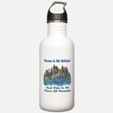 Nature Is My Religion Water Bottle