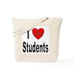 I Love Students Tote Bag