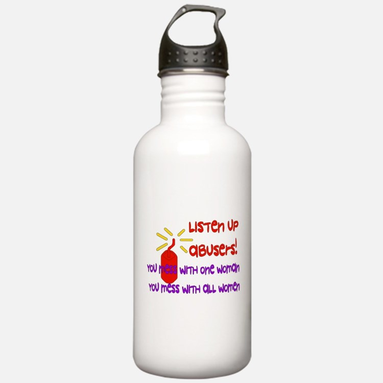 Message To Abusers Water Bottle
