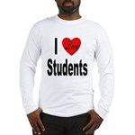 I Love Students (Front) Long Sleeve T-Shirt