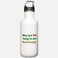 End World Hunger Water Bottle
