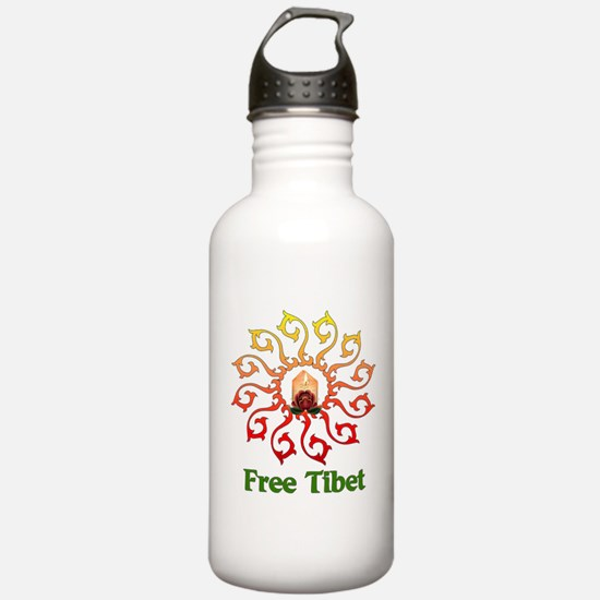 Free Tibet Candle Water Bottle