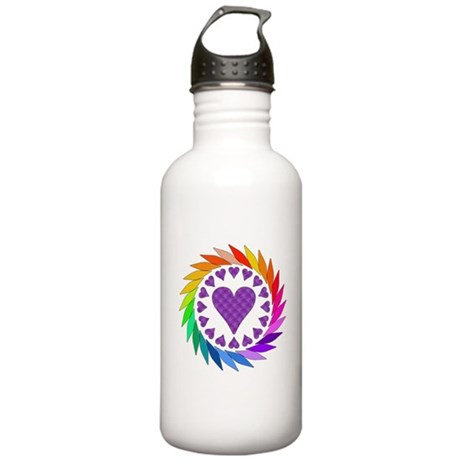 Rainbow Love Hearts Stainless Water Bottle 1.0L
