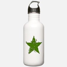Green Melting Star Water Bottle