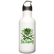 Earth Day Skull And Bones Water Bottle