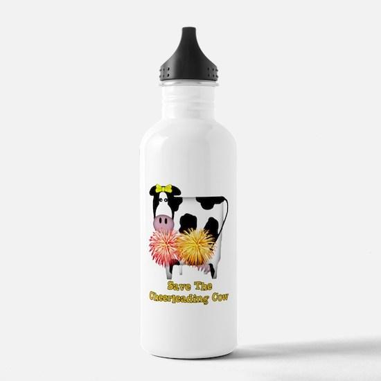 Cheerleading Cow Sports Water Bottle
