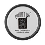 DEA Special Agent Large Wall Clock