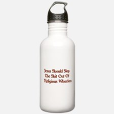 Shit Slapping Jesus Water Bottle