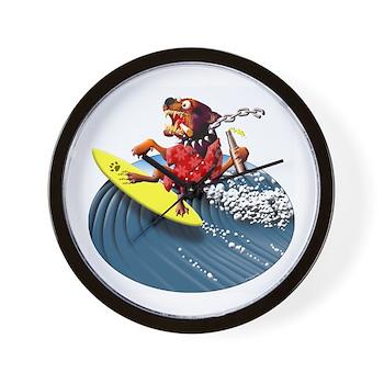 Wedgehead Surf Dog Wall Clock