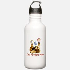 World Peace Cats Water Bottle