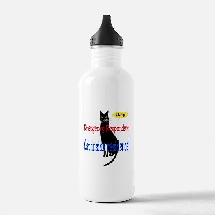 EmergencyResponder Cat Alert Water Bottle
